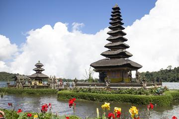 Pura Ulun Danu Bratan in the lake, Bali, Indonesia