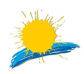 Logo of the sun and sea.