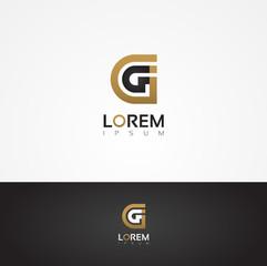Elegant vector graphic alphabet / letter G