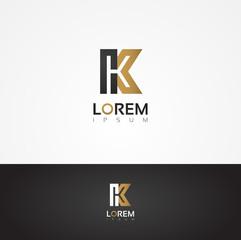 Elegant vector graphic alphabet / letter K