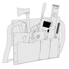 2d cartoon image of toolbag