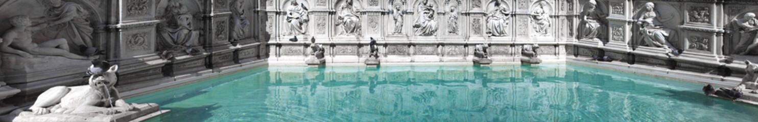 Fonte Gaia Siena Detail