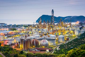 Oil refineries of Wakayama, Japan.