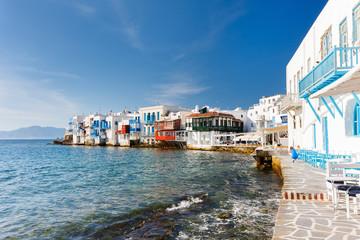 Little Venice on Mykonos island, Greece