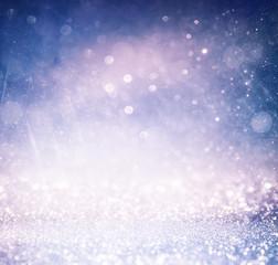 glitter vintage lights background with light burst