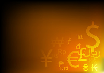 Vector : Abstract currency symbols background