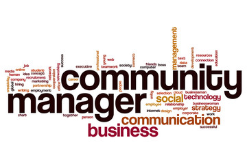 Community manager word cloud concept