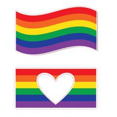 Gay family flag vector