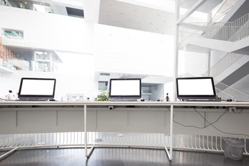 modern computer in technology exhibition