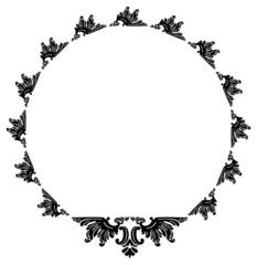 Round frame in baroque