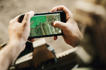 Rangers paves the route on an electronic tablet