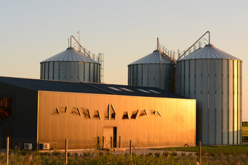 Warehouse silo in Modern farming