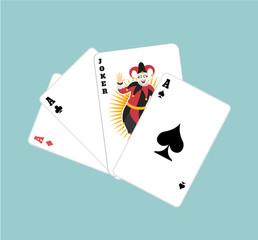 Vector game cards flat illustration