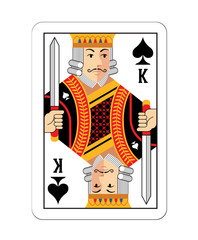 Vector game card King illustration