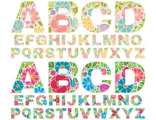 Retro Flower Alphabet Uppercase