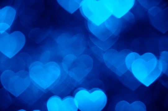blue heart shape holiday photo background