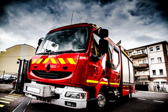 camion de pompier hdr