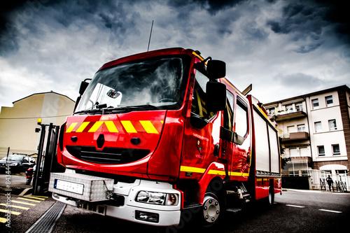 Camion de pompier hdr photo libre de droits sur la - Image camion pompier ...