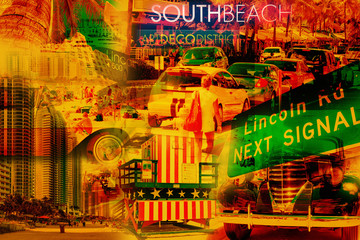 Collage of South Beach Miami