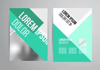 Infographic brochures for business data visualization. Flyer design template for business.
