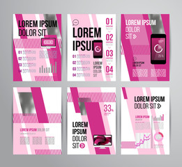 Flyer template design for business. Brochure concept for print. Business concept with text,