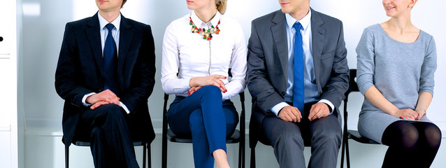 Group of business people sitting on chair in office