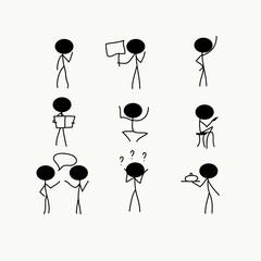 stick figure icons symbol