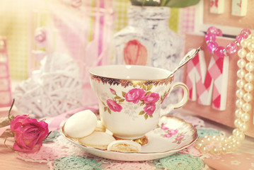 tea time in romantic vintage style