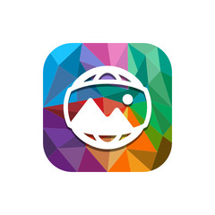 Geometric App Button