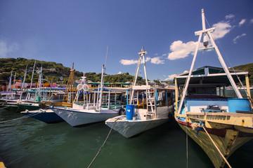 Fishing boats in the harbor, Labuan Bayo, Indonesia