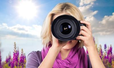 Photographer, journalist, camera.