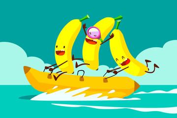bananas on banana boat