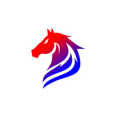 Horse logo template set