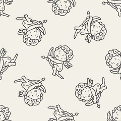 cupid doodle seamless pattern background