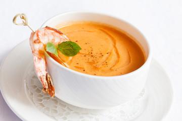 tomato soup with shrimp
