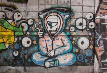 BANGKOK,THAILAND-May 26 : Street art graffiti.