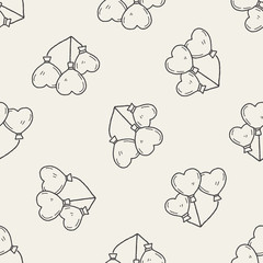 love balloon doodle seamless pattern background