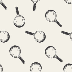 doodle magnifier seamless pattern background