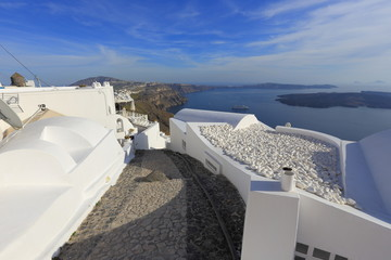 Typical architecture of Santorini, Greece
