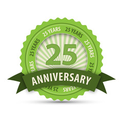 25 YEAR ANNIVERSARY Vector Icon
