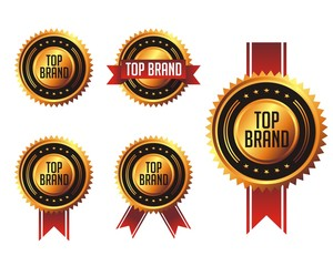 gold top brand badges