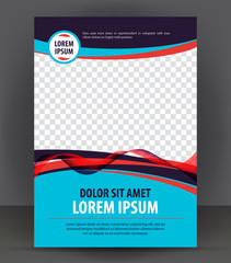 Magazine, flyer, brochure, cover, booklet design print template