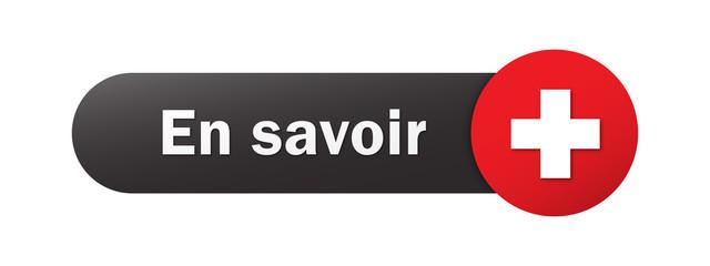 """Bouton Web Vecteur """"EN SAVOIR +"""""""
