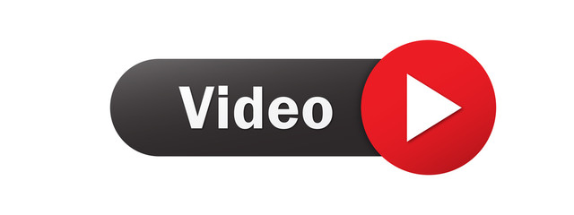 VIDEO vector black and red web button