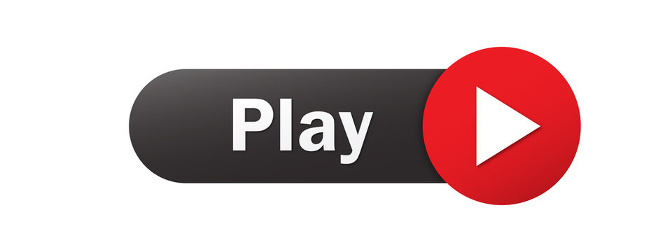 PLAY vector black and red web button