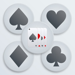 Casino simple icon card suits