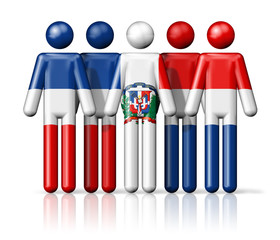 Flag of Dominican Republic on stick figure