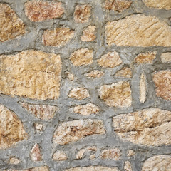 stone wall closeup, natural background