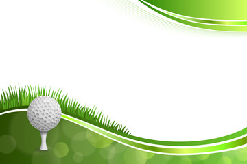 Background abstract green golf sport white ball illustration
