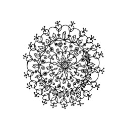 Indian flower mandala